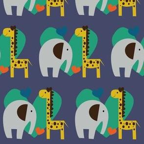 elephant loves giraffe