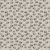 Baby Sheep and Stars on Neutral Beige