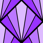 deco diamond 5K : violet mauve