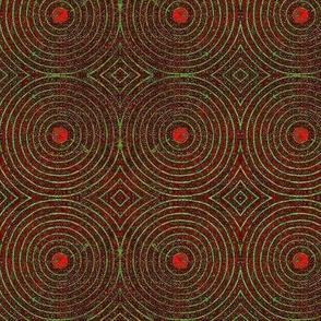 Shield Lg.- reds, green