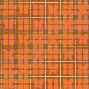 Butterfly Plaid in Orangey-Coral