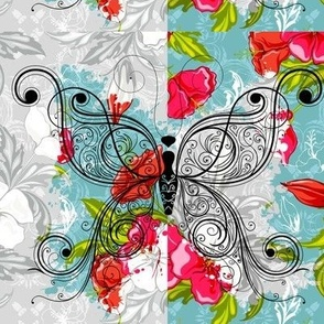 artistic_butterflies_and_flowers
