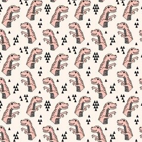 Dinosaurs - (Tiny) Pale pink and Champagne by Andrea Lauren
