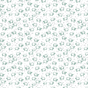 Baby Sheep and Stars Sage & Grey on White