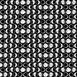 Moon Phases - Black/White (Small) by Andrea Lauren