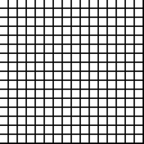 Grid - White/Black (1/2 inch version) by Andrea Lauren