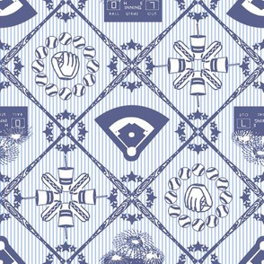 Baseball Diamonds Toile