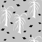 Owls and bats grey