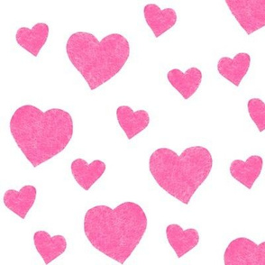 pink valentine hearts by MiaMea