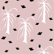 Owls and bats pink