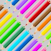 coloured pencil diagonal