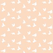 Doves in Flight, Peach Blush
