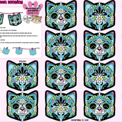 Candy Cat bunting Blue