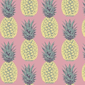 Summer Pineapples on Pink