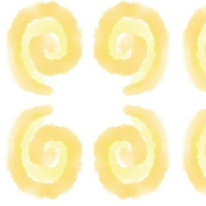 Yellow Watercolor Swirls