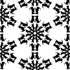 Black Scottie Snowflakes