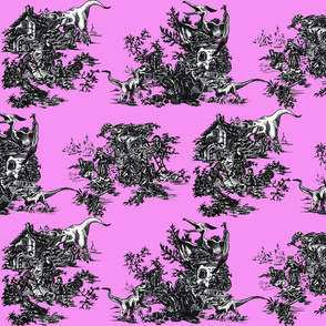Jurassic toile pink shock