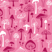 Mushrooms in Pink