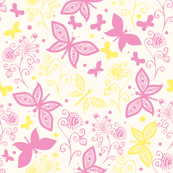 Pink and Yellow Butterflies