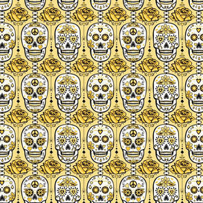 Yellow Sugar Skulls