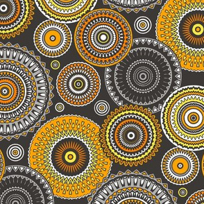 Circles Geometric in Orange Yellow