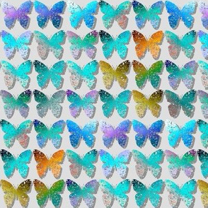 Mostly turquoise shadowed butterflies by Su_G