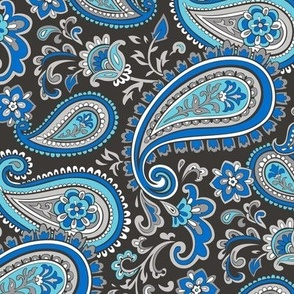 Modern Paisley in Blue