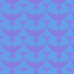 purple birds on blue