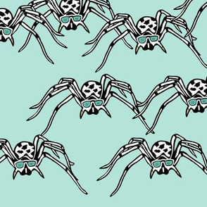 spiders blue/mint