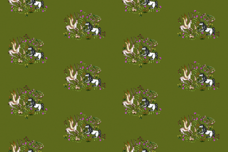 Medieval Unicorn Garden - V3 Wallpaper