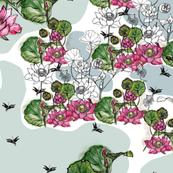 Lotus Blooms Botanical Sketchbook