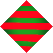 Red Green Striped Diamonds