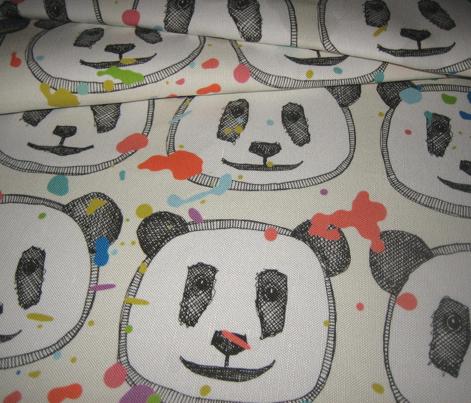 splatter pop panda cookies