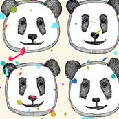 splatter pop panda cookies