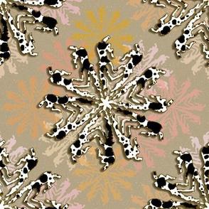 Bucking Pinto Snowflakes