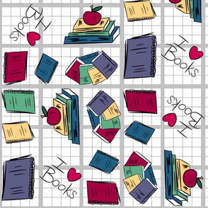 Graph paper I heart books