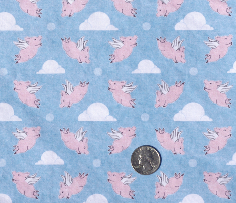 When Pigs Fly - Blue Background