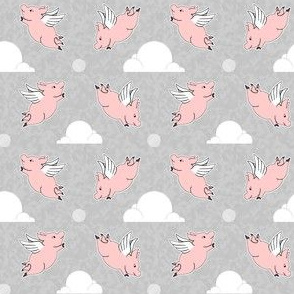When Pigs Fly - Weathered Grey Background