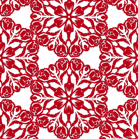 Christmas Rose Snowflake 2