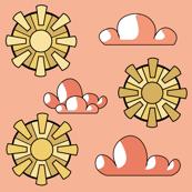 Golden Sun Pink Sky