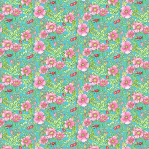 Beach rose all over pattern