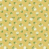 daisies on ochre