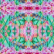 Moth on Pink Salt - marsh Fleabane