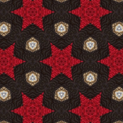 Red Quilted Stars on Acid