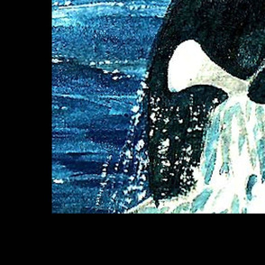 Orca Watercolor