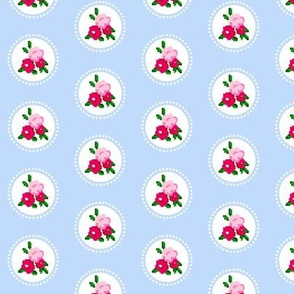 Pixel Rose Polka Dot