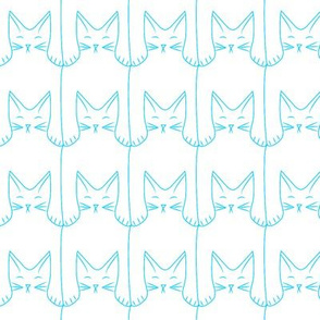 cat pattern (blue)