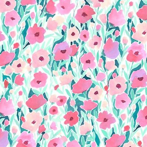 Flower Field Pink Mint