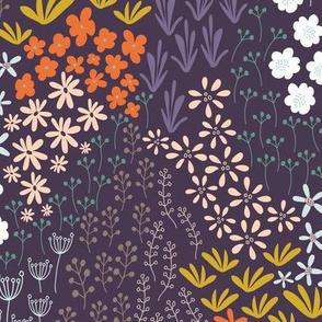 Papaver Collection - Dense Floral, dark
