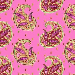 Pink Angelica Paisley